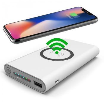 Qi 10000mAh Power Bank w/ Wireless Wireless Portable Charger