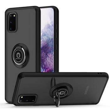 Samsung Galaxy S20 FE Hard TPU Clear Case w/ Ring Stand