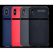 iPhone X Auto Focus Leather Line Case