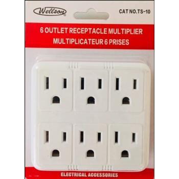 6 Outlet Receptacle Multiplier