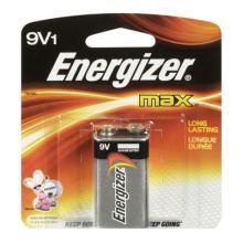 Energizer Max 9V Alkaline Battery