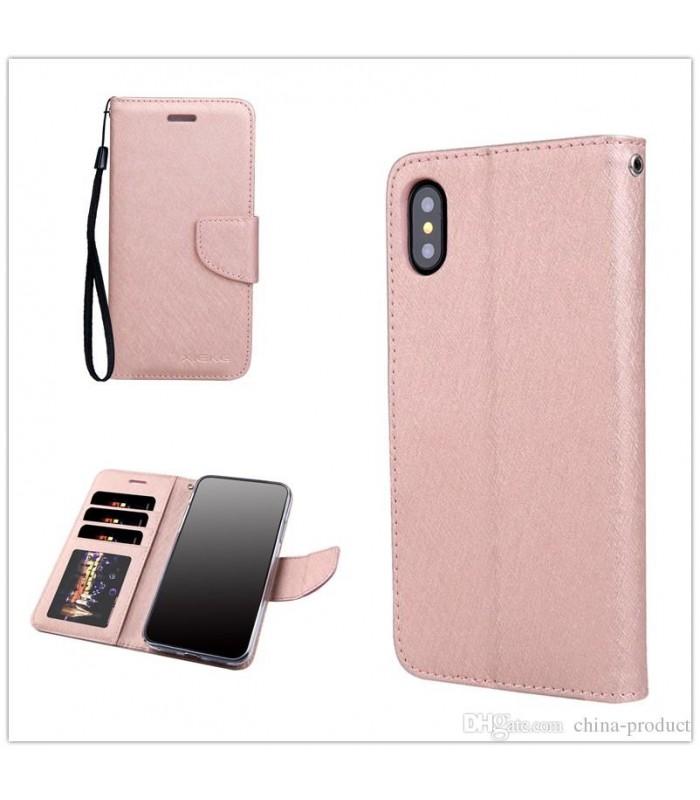 iPhone X Leather Flip Case