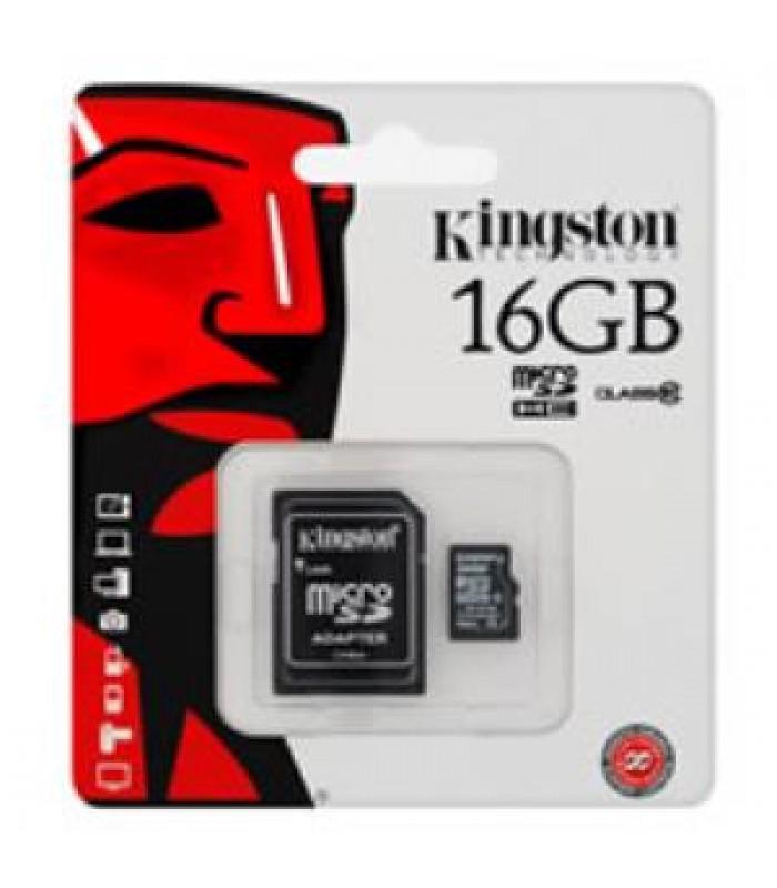 Kingston 16GB Micro SD Memory Card 16G SDHC Class 10 w/ SD Adapter