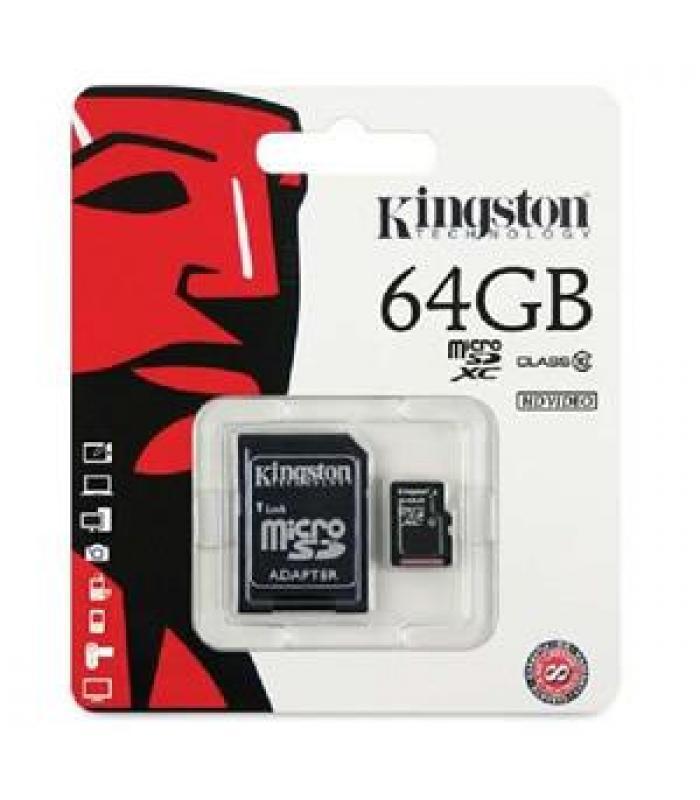 Kingston 64GB Micro SD Memory Card 64G SDHC Class 10 w/ SD Adapter