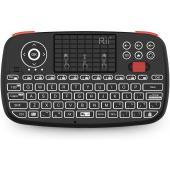 Rii i4 Mini Bluetooth Keyboard with Touchpad, Blacklit Portable Wireless Keyboard