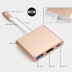 USB 3.1 Type C USB-C (Thunderbolt 3) to VGA+USB3.0+Type C M/F 3 in 1